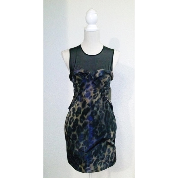 AllSaints Spitalfields Mesh Top Cocktail Dress