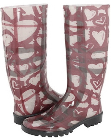 Burberry Heart Nova Check Boots