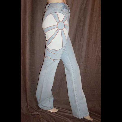 Emanuel Ungaro Sunburst Patchwork Jeans 40IT 6/8 NWT