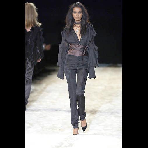 Gucci Tom Ford Black Silk Pants 44IT 10/12