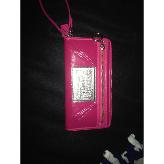 Coach Poppy Pink Leather Wallet or Wristlet