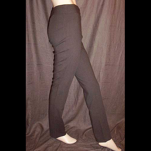 Moschino Tobacco Virgin Brown Stretch Wool Blend Pants 40IT 6/8 NWT