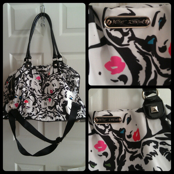 Betsey Johnson Marilyn Lips Large Tote