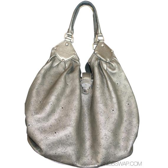 Metallic Pewter Mahina XL Louis Vuitton Shoulder Bag