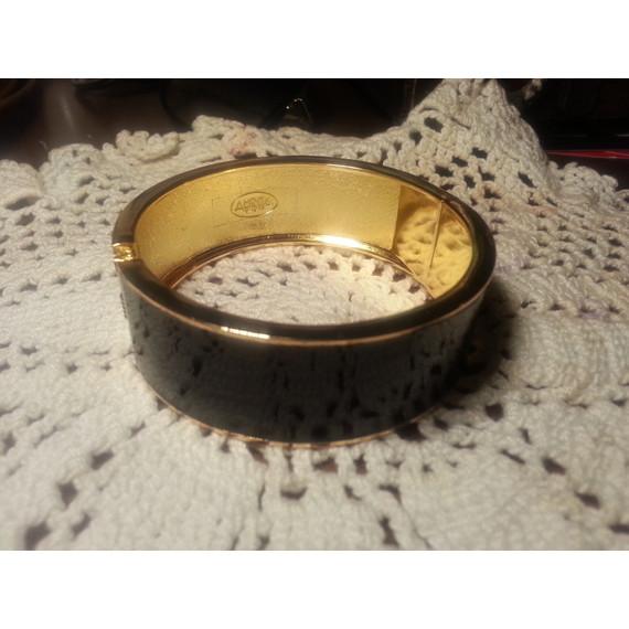 Gold & Black Enamel Cuff