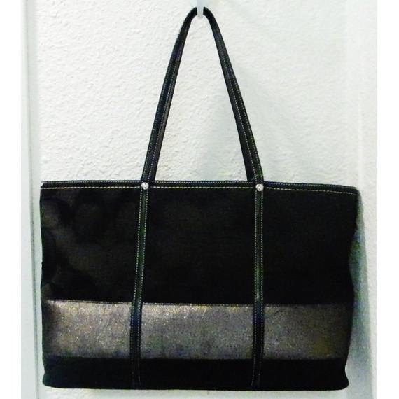 Coach Canvas Black Tote Bag