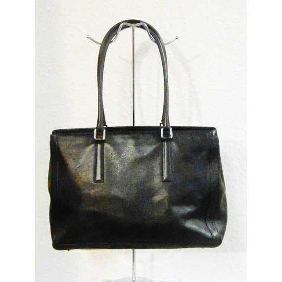 Coach Black Leather Large Tote