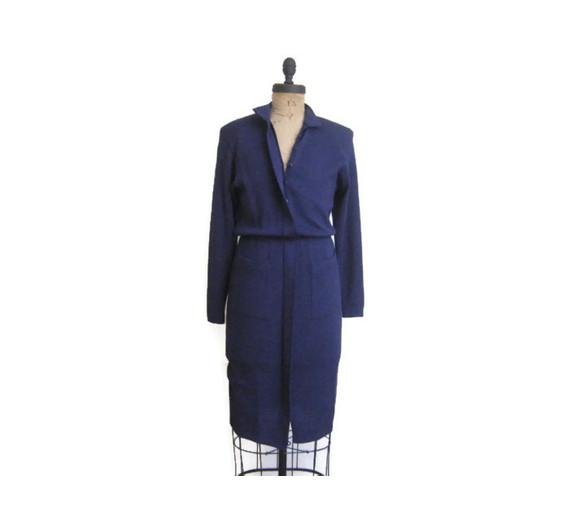 St. John Navy Knit Dress