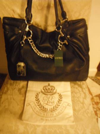 New Ralph Lauren Black Kimblewick Bag!!! Tags Read $498!!!