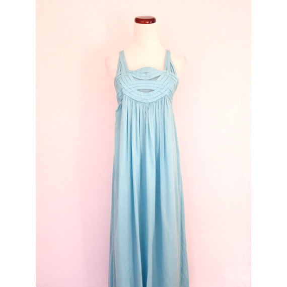 Adam Lippes light blue maxi dress