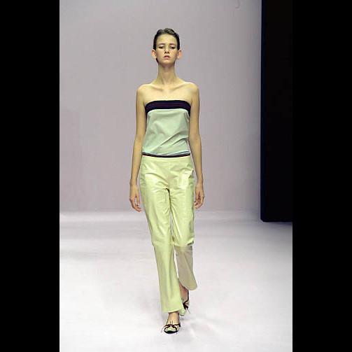 Miu Miu by Prada Cream Patent Leather & Gold Mesh Peek-A-Boo Pants 40IT 6/8 NWOT