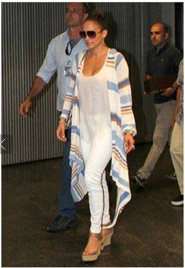 Goddis Knit Naples Cardigan as seen on Jennifer Lopez