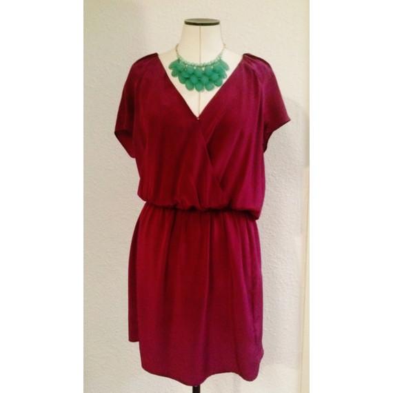 Rory Beca 100% Silk Magenta Dress