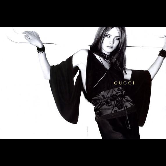 Gucci Tom Ford Black Silk Bamboo Strappy Kimono Batwing Top 40it 6/8/10 Nwt