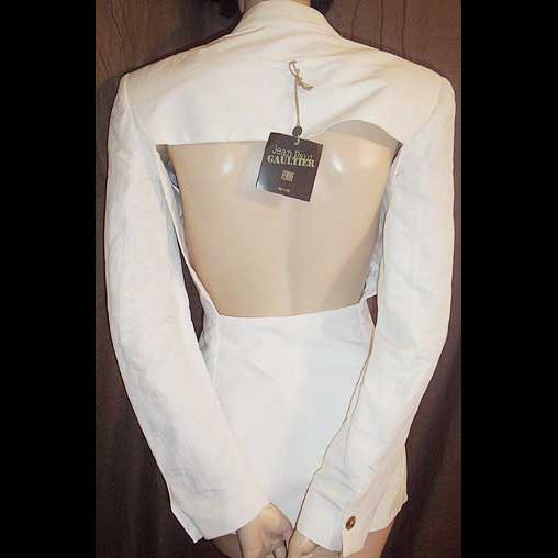 Jean Paul Gaultier Ivory Cut Out Backless Jacket/Blazer 42IT 8/10/12 NWT