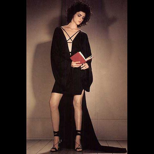 Gucci Tom Ford Black Silk Satin Kimono Mini Train Gown/Dress 38IT 4/6/8 NWOT