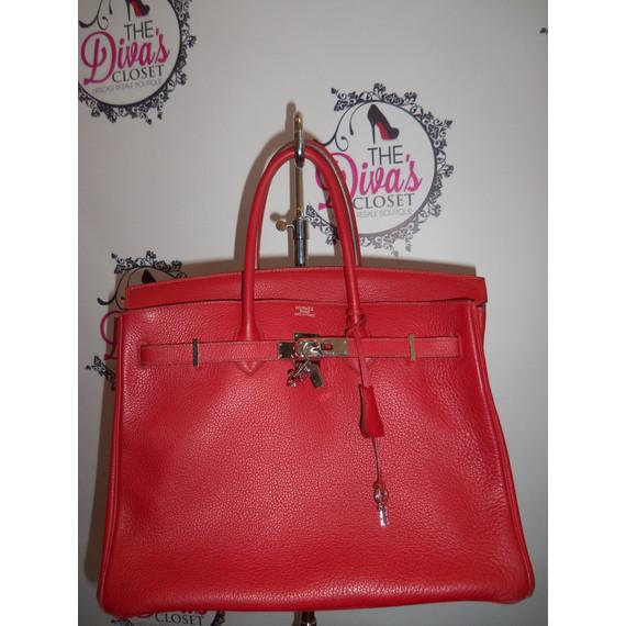 Authentic Hermes Birkin Red Handbag GUC w/ Pegasus Charm, Box, etc.