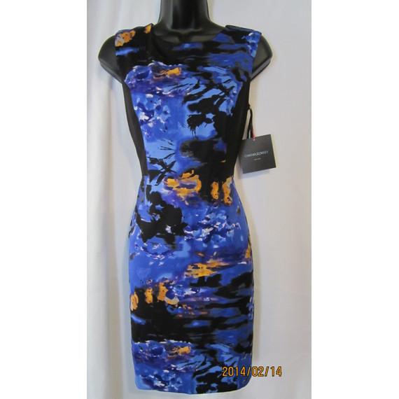 Cynthia Rowley Stretch Blue/Purple/Black Size 8