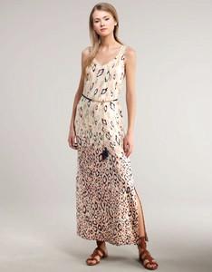 Akiko Leopard-Print Silk Maxi Dress