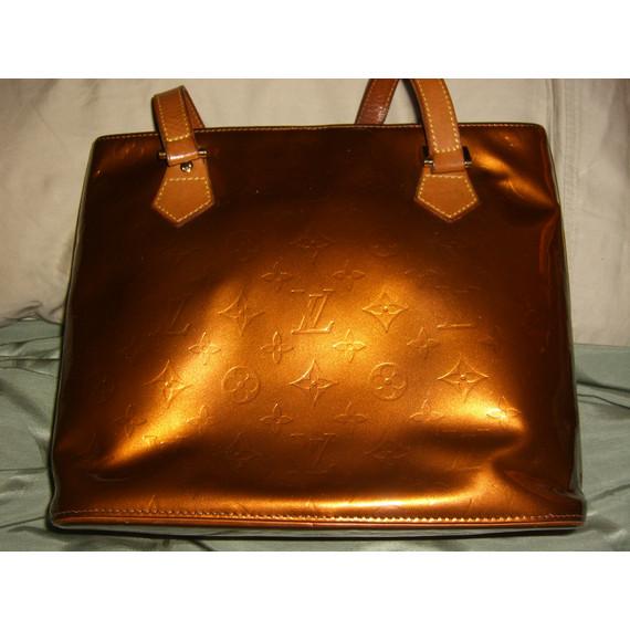 Louis Vuitton Bronze Monogram Vernis Houston Bag