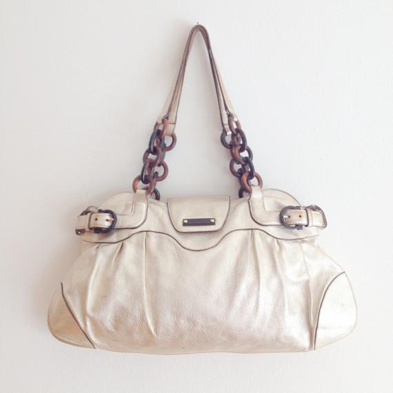 Salvatore Ferragamo Ganci Leather Shoulder Bag