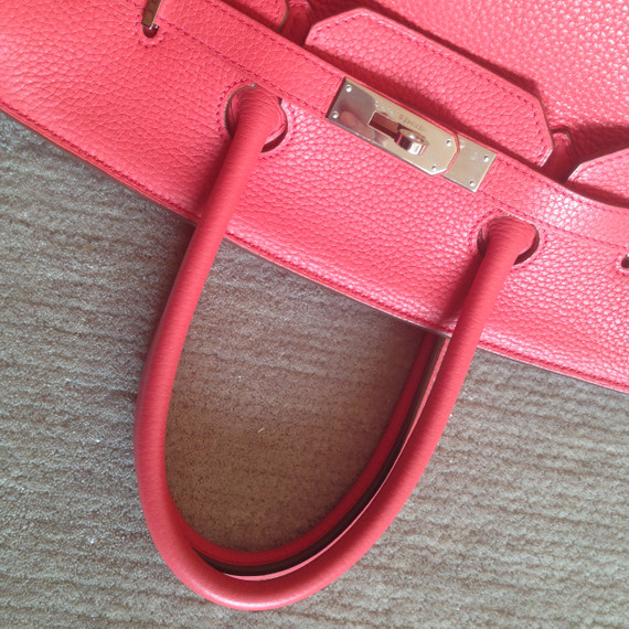 Hermes birkin 35cm bougainvillea Red