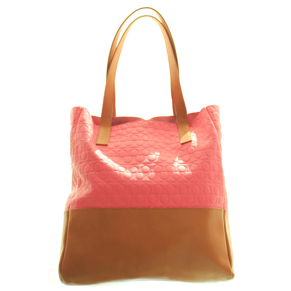 Alexander McQueen Pink and Luggage Tote