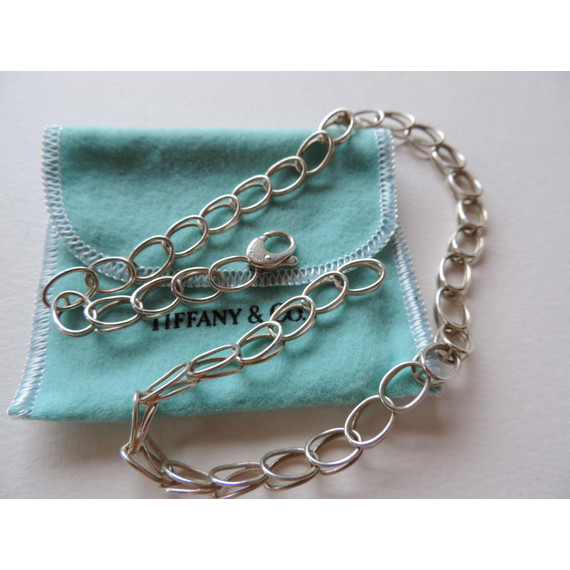Tiffany & Co. Double Oval Loop Link Chain / Necklace RARE