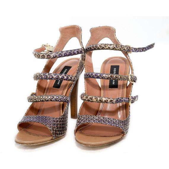 Derek Lam Purple Accent Snakeskin Sandals