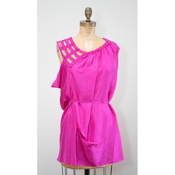 Vera Wang Fuschia Pink Dress
