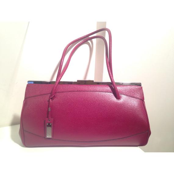 Gucci cranberry red leather envelope shoulder bag