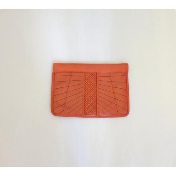 Cole Haan Braided Orange Clutch
