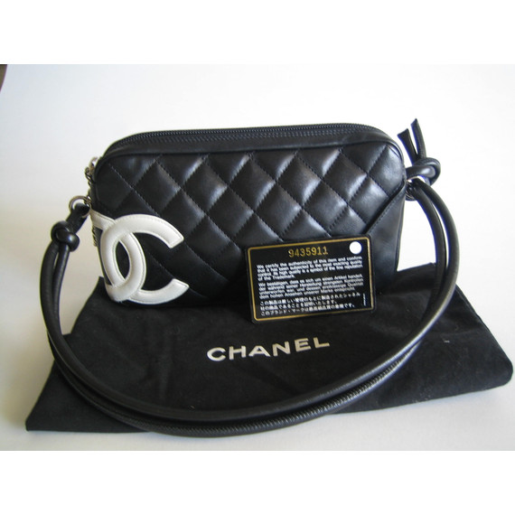 Chanel Authentic Black Ligne Cambon Quilted Leather