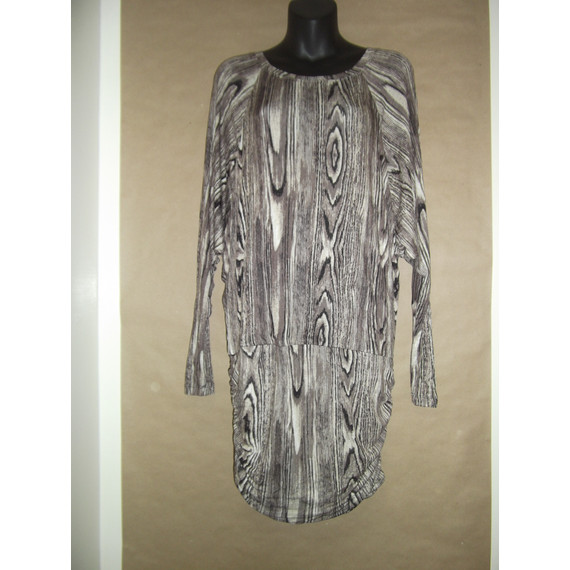 NWT BCBG Nature Collection Tree of Life Tunic - Dolman Sleeve - Side Ruching - M