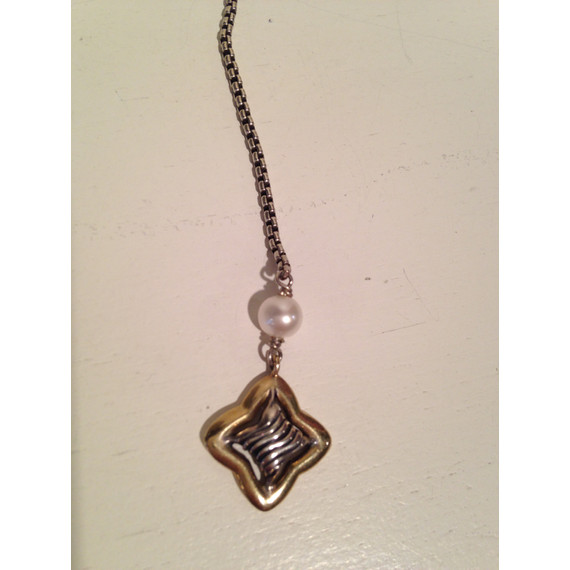 David Yurman quatrefoil lariat necklace