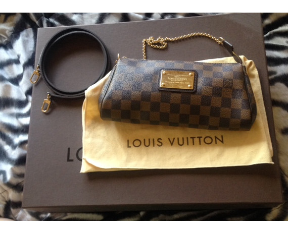 Louis Vuitton Eva Damier Clutch with strap included