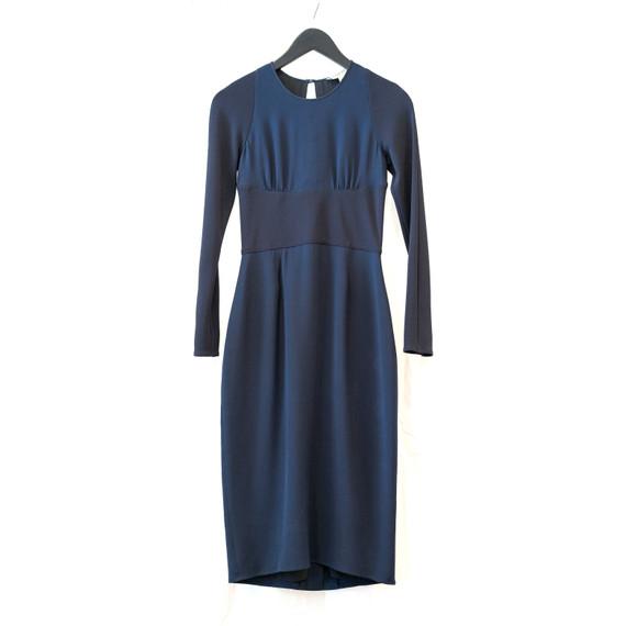 Burberry London color block lined peep-back dress