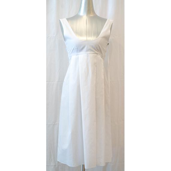 Marni white sleeveless dress w/ sash