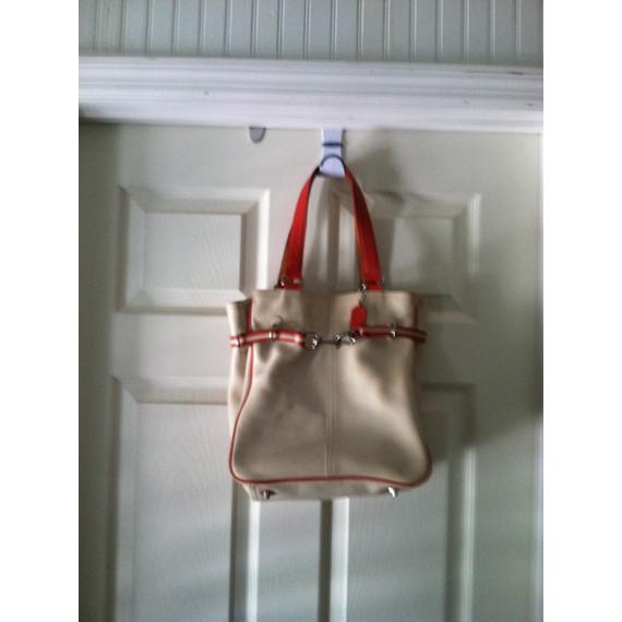 Coach ivory cream white bucket bag