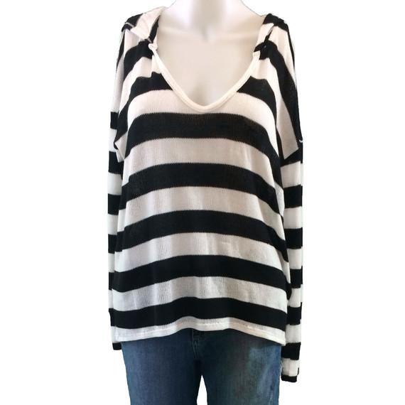 Soft Joie Erickson Stripe Hooded Sweater