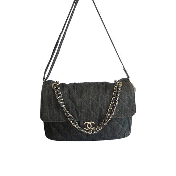 Chanel Denim Quilted Shoulder Bag