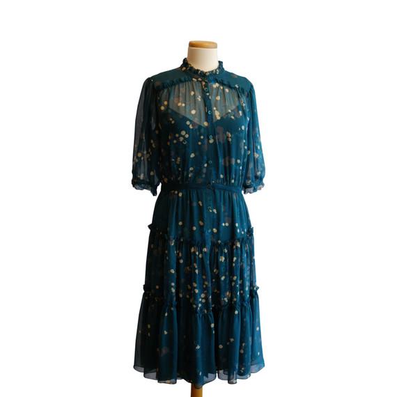 Diane von Furstenberg Teal Printed Dress