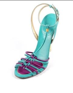 Salvatore Ferragamo Braided T-Strap Sandals