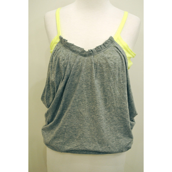 Marc by Marc Jacobs Grey and Neon Yellow Tank Shirt (Item No. 10569)