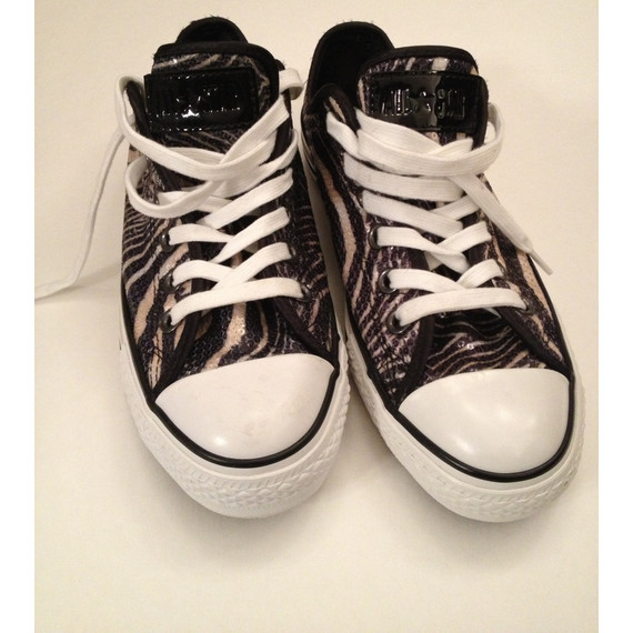 NEW Tiger print & patent leather ONE STAR