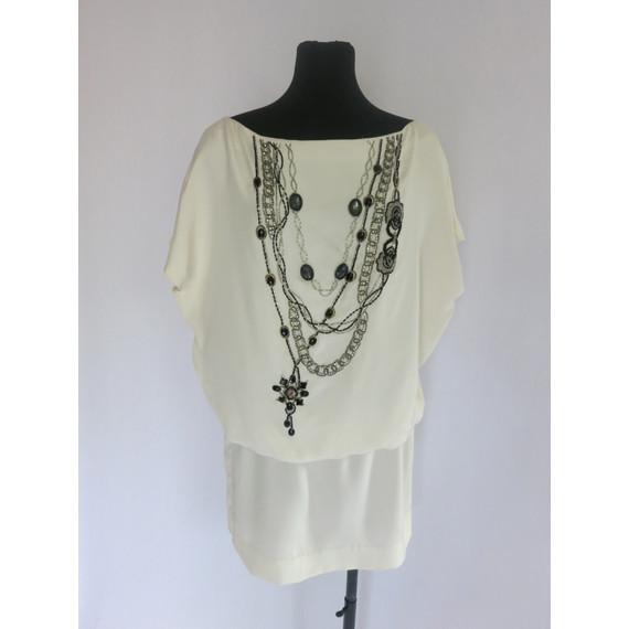 Foley & Corinna Cream Dress with Bead Embellishment