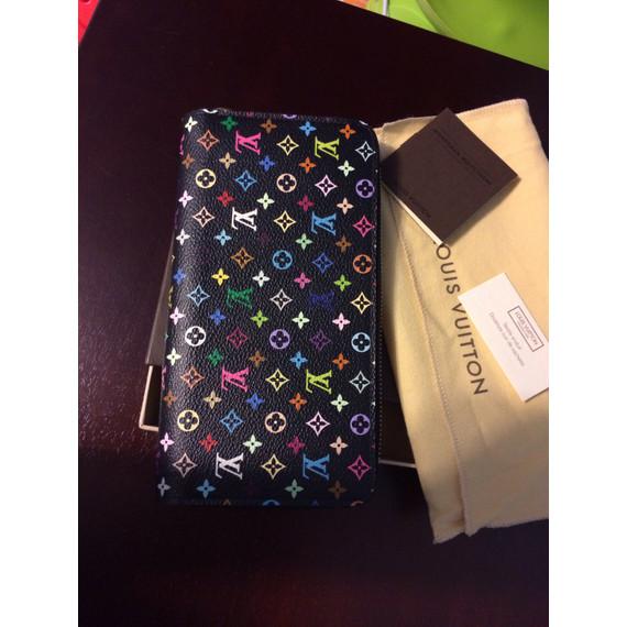 Louis vuitton multicolore black zippy wallet