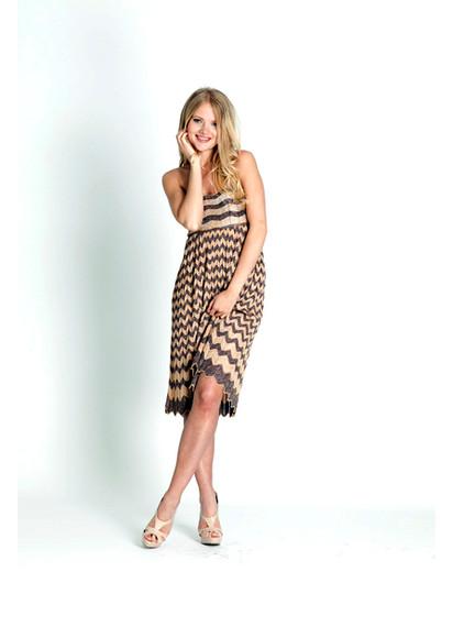 Missoni Gold Signature Print Knit Skirt/Dress