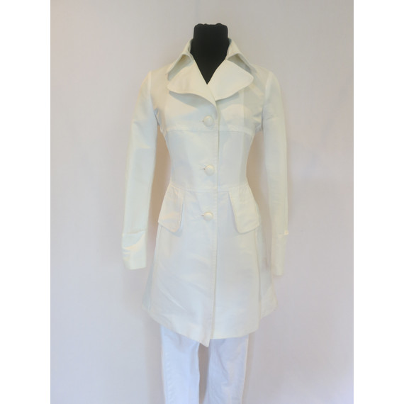 United Colors of Benetton White Trench Coat
