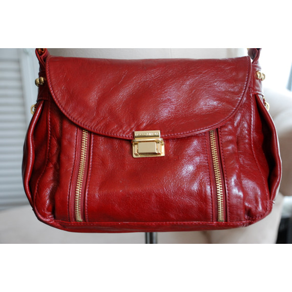 Rebecca Minkoff Crossover Bag in Burgandy